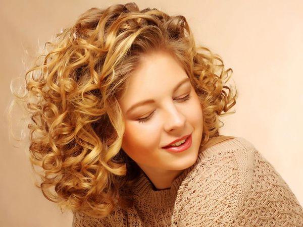 Химия на крупные бигуди на средние волосы