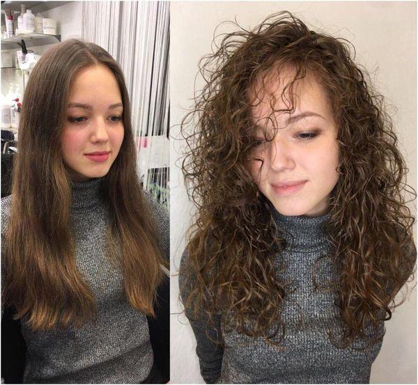 реальное фото химии волос вас
