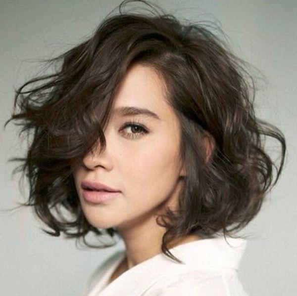 Каре на кудрявые волосы для короткой, средней длины и удлиненные варианты на фото