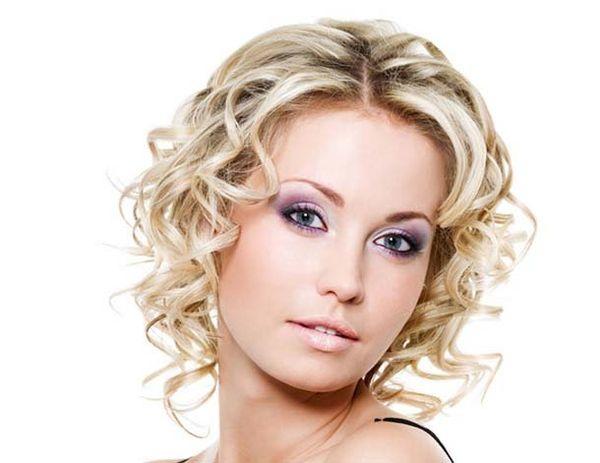 локон-штопор на короткие волосы