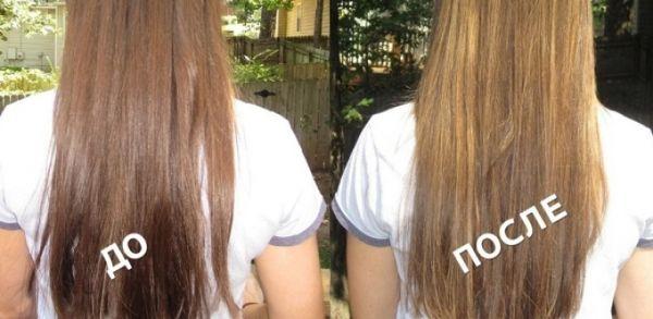 осветление светло-русых волос