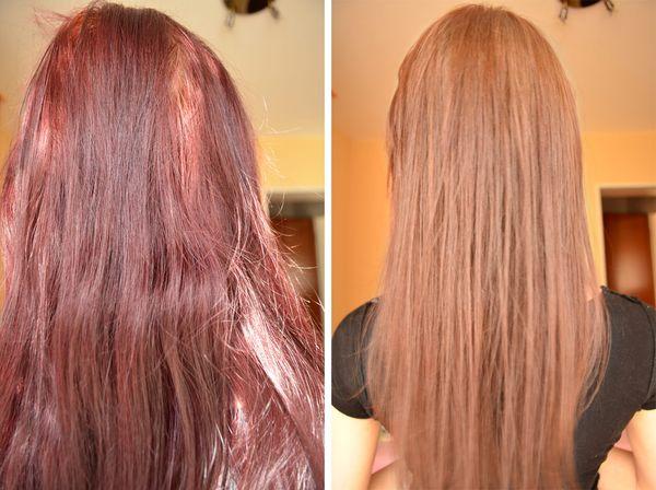 смывка Красного цвета с волос