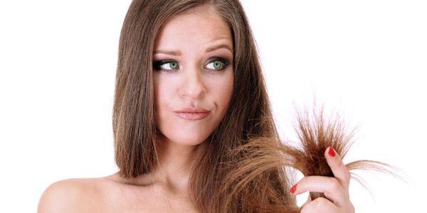 сухие волосы с секущимися кончиками