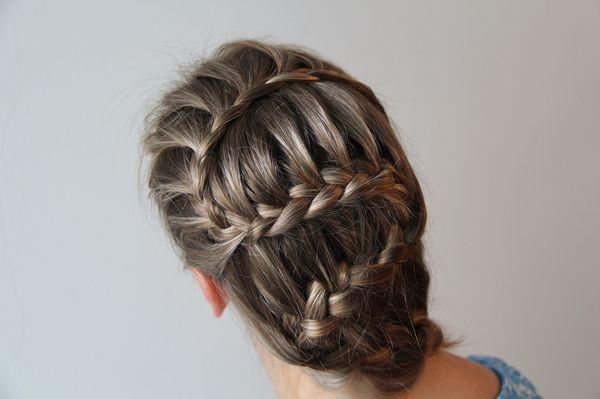 «Змейка» на короткие волосы