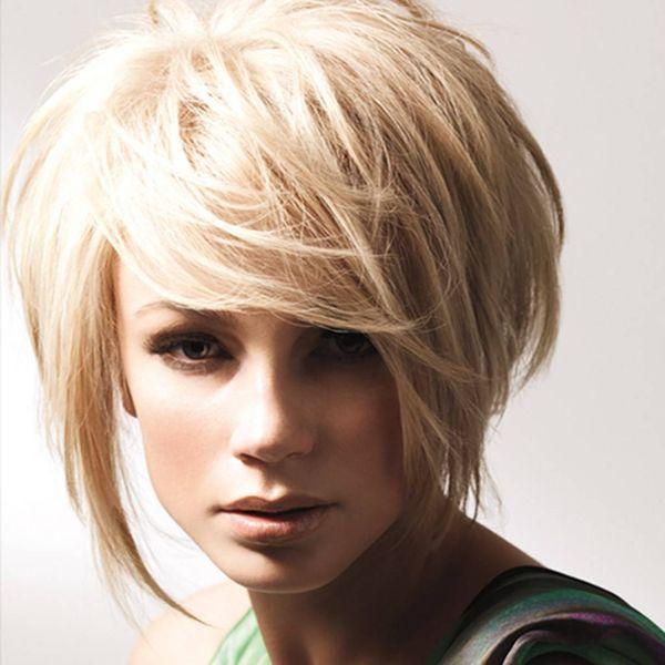 Асимметричное каре блонд