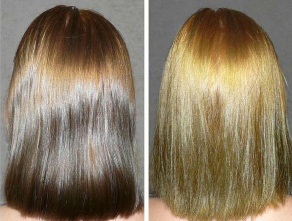 Осветление волос на 2 тона