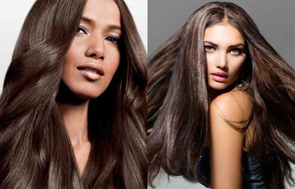 Перламутровый каштановый цвет волос