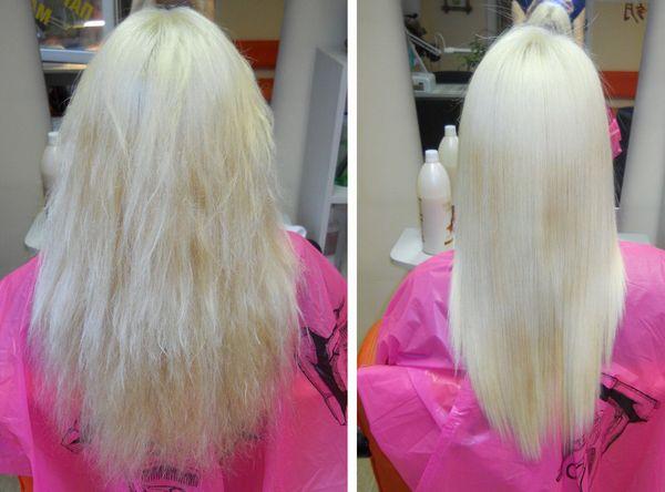 востановление обесцвеченных волос