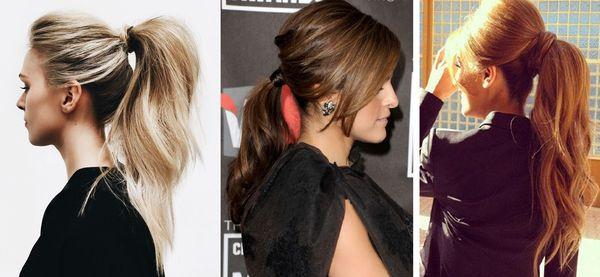 начесанный хвост на разные цвета волос