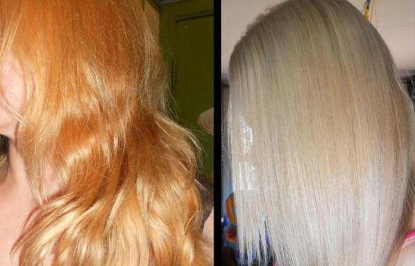 рыжина на волосах