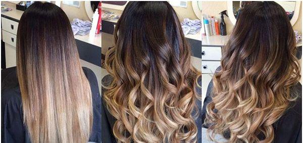Окрашивание волос на длинные темные волосы