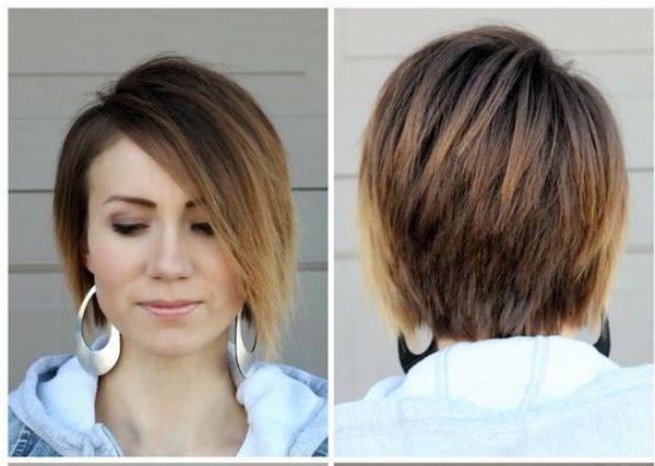 Окрашивание волос на короткие темные волосы