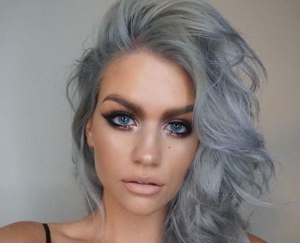 Пепельные цвет волос для голубых глаз