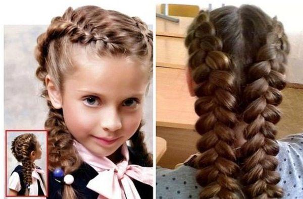 две косы для девочек
