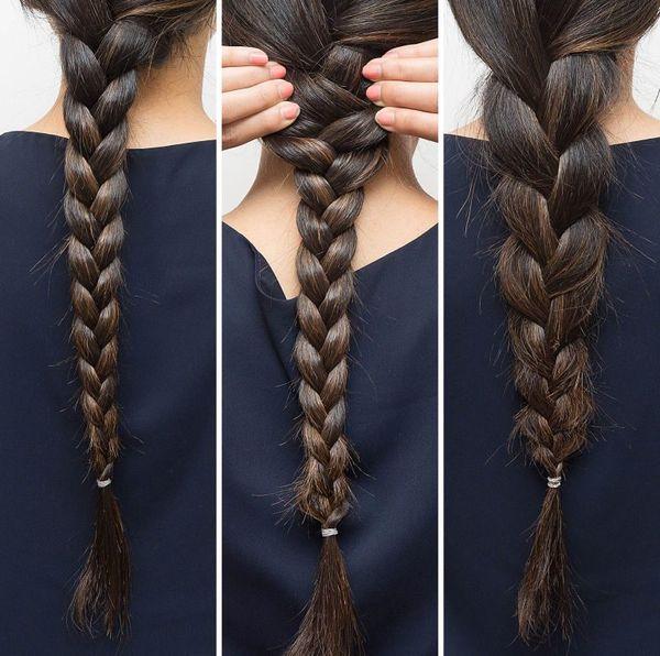 коса из тонких волос