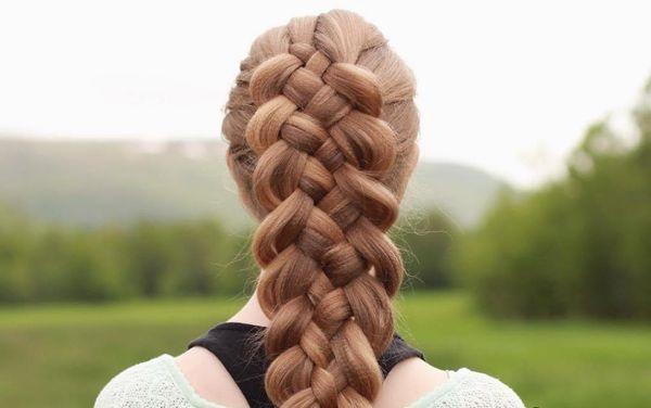 шестипрядная коса