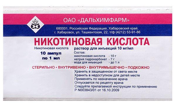 Маски с никотиновой кислотой от выпадения