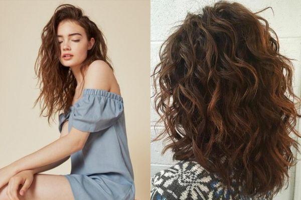 каскад на вьющиеся волосы