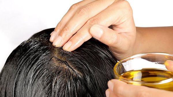 массаж головы себе с маслом