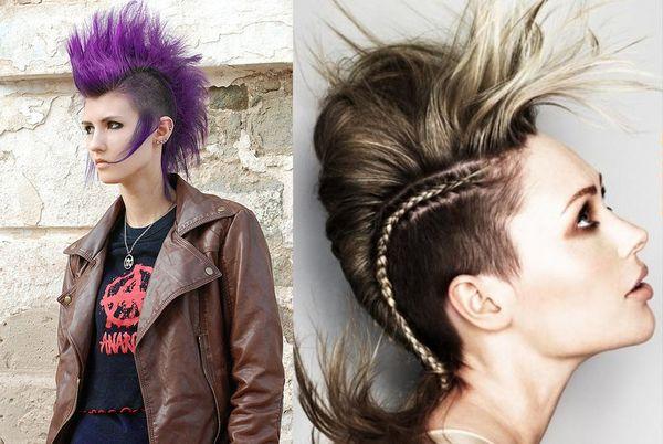 прическа панк женская