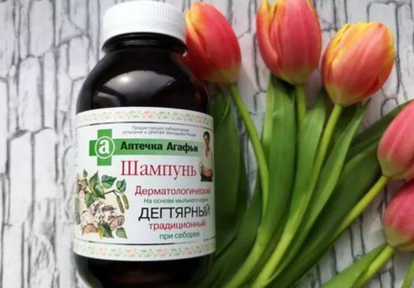 Шампунь с дегтем «Аптечка Агафьи»