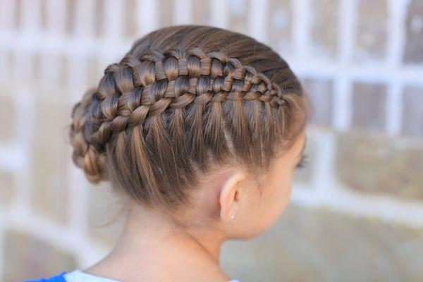 ажурные косы для девочек в садик