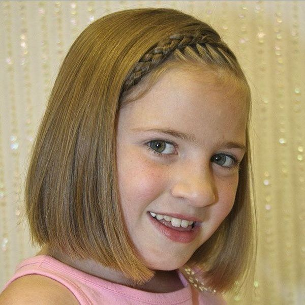 ободок из волос на каре для девочек