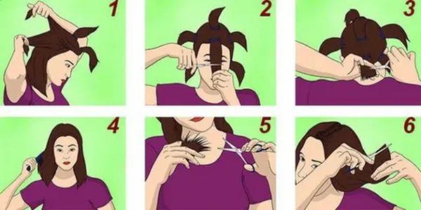 Как в домашних условиях подстричь короткие волосы