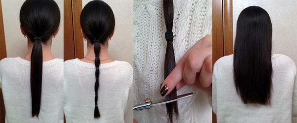 Как подравнять или укоротить себе волосы