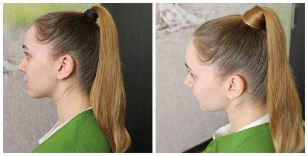 Как сделать на хвосте резинку из волос