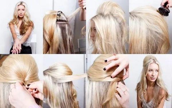 начес на длинные волосы