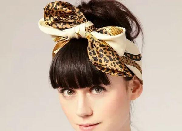 платок на голову В форме банта