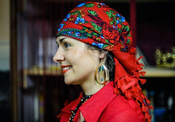 платок на голову По-цыгански